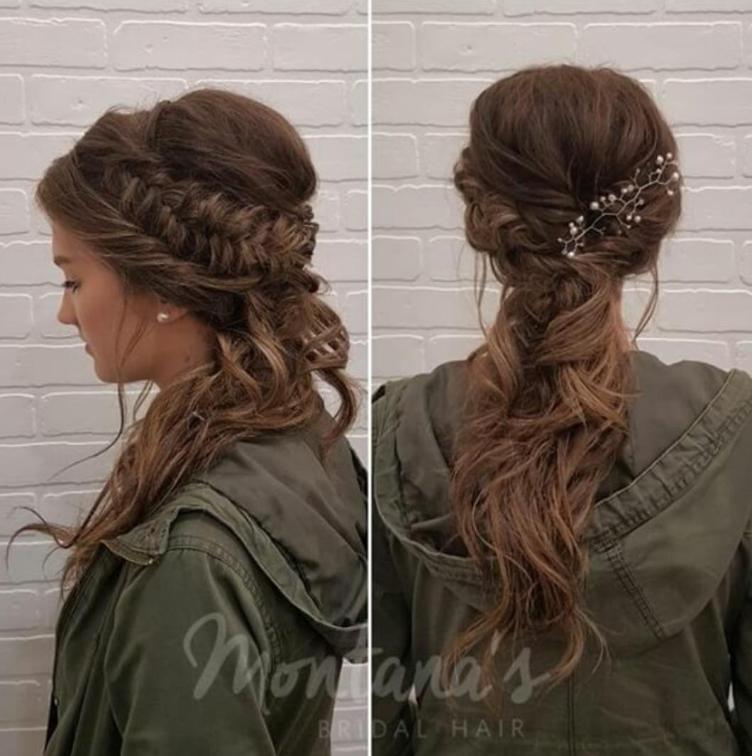 montanas bridal hair