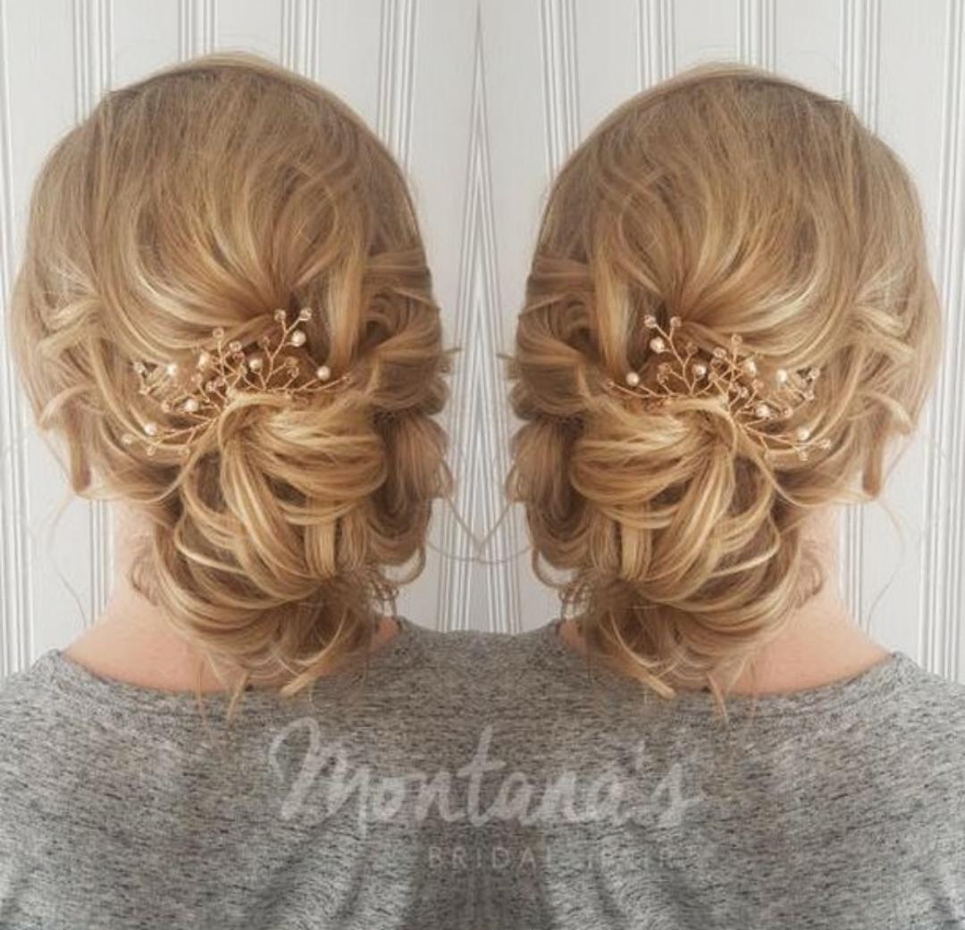 rose gold hair pins updo inspiration