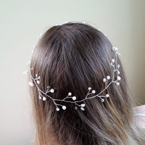 white bridal crown for wedding