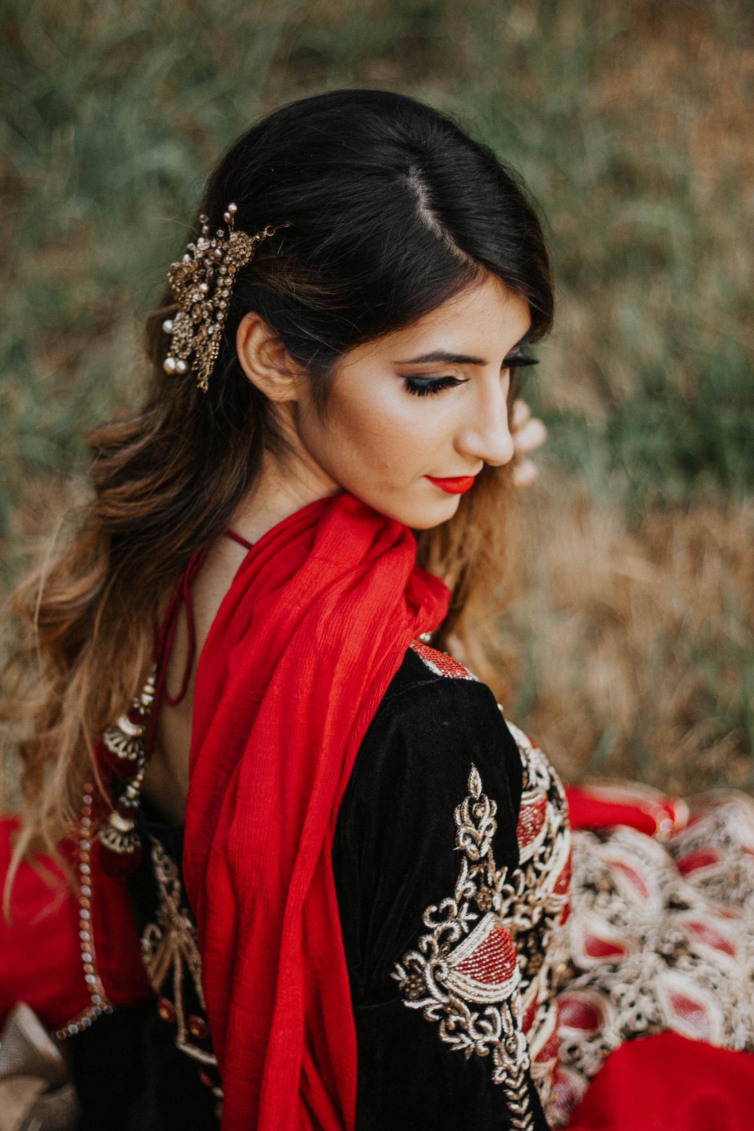 indian bride hairstyle wedding