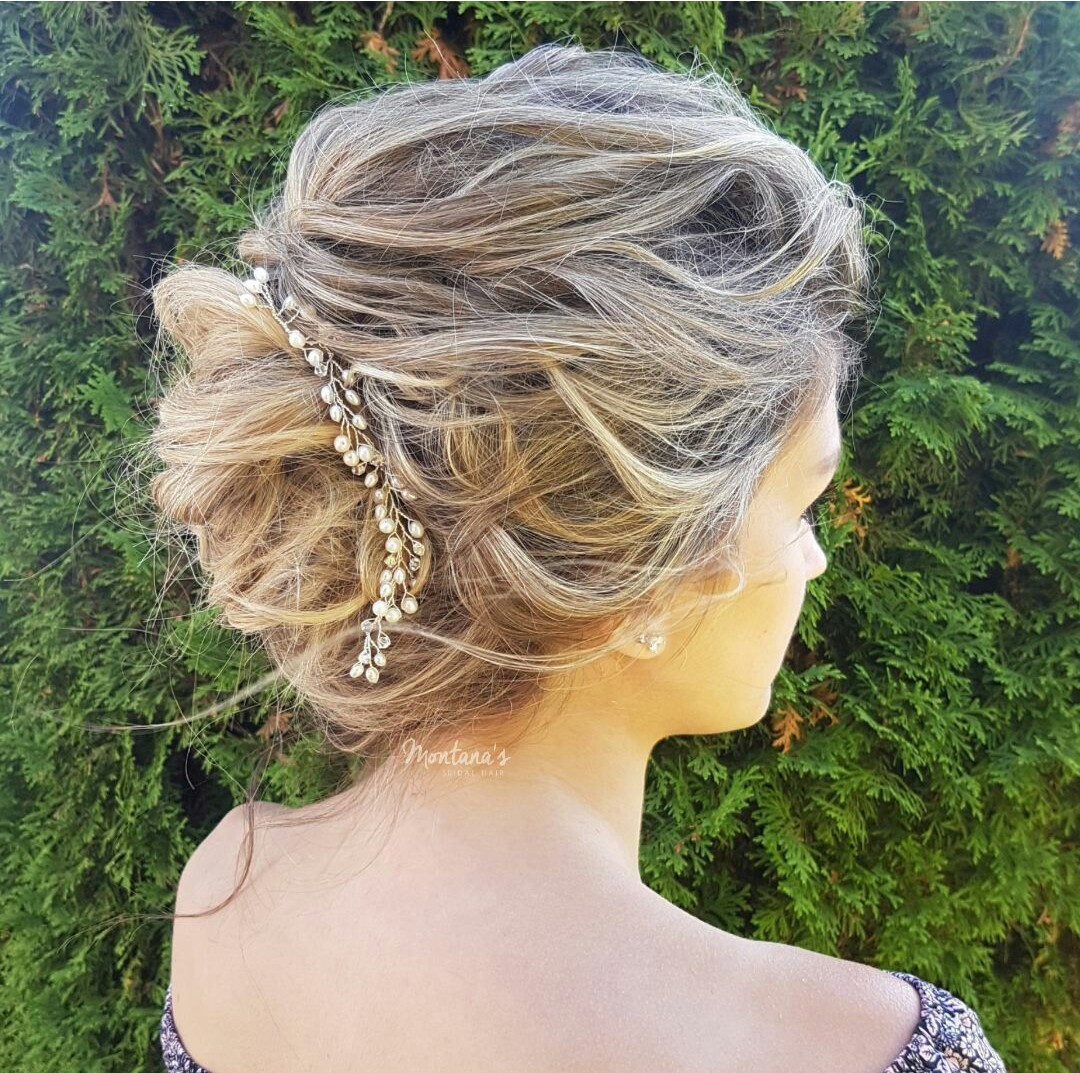 wedding hair vine silver
